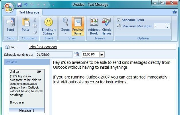 outlooksms